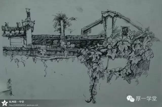 厚一学堂屏山写生速写篇|杭州画室|杭州知名画室