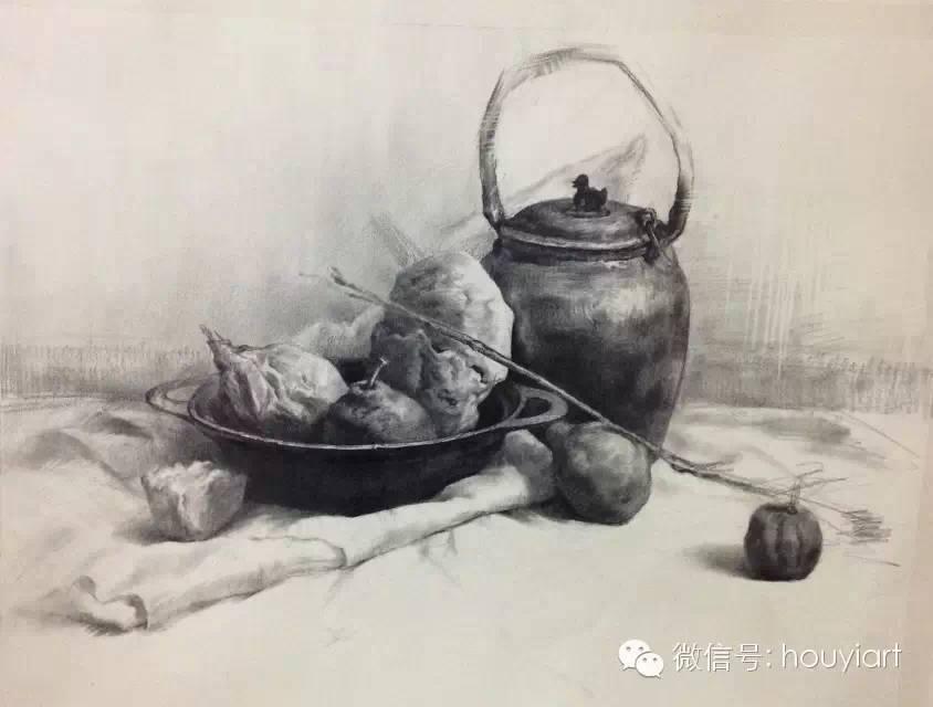 静物生手(配素描图)--献给美术步骤绘劳斯莱斯图纸图片