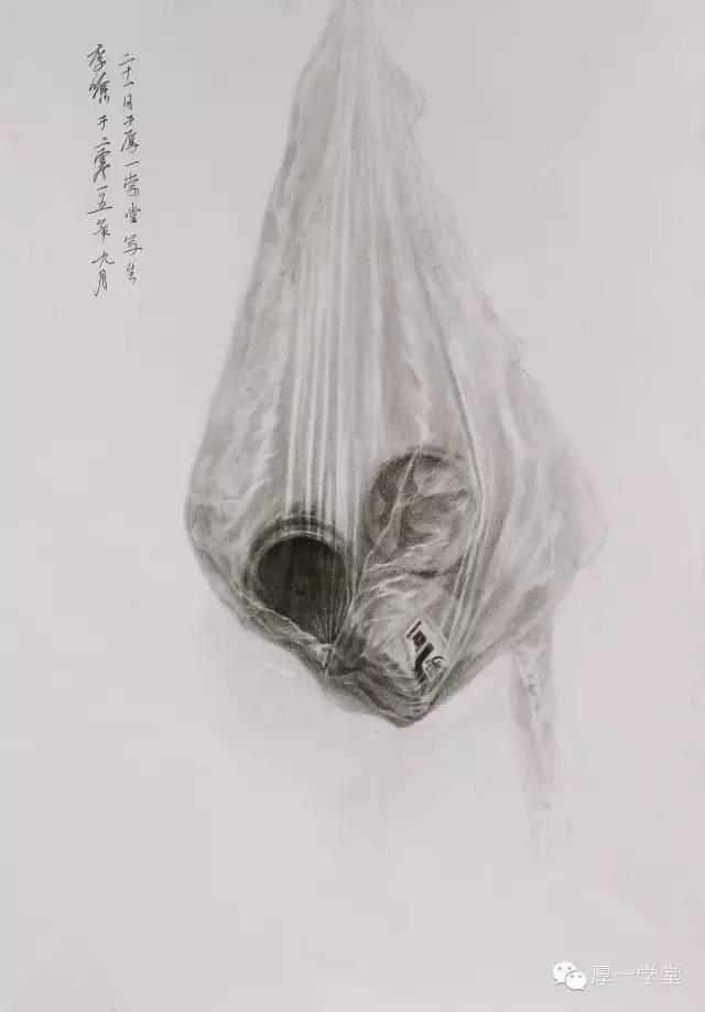 【课堂优秀作业】9月上旬非常规静物素描(图64)