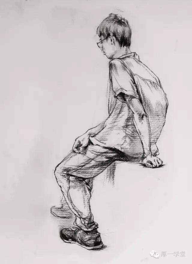 鞋子结构素描图片
